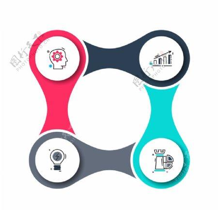 微立体商业信息图表矢量设计素材