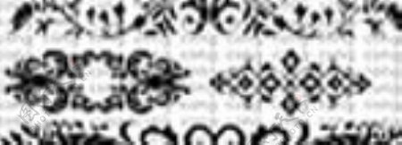 复古装饰花纹笔刷