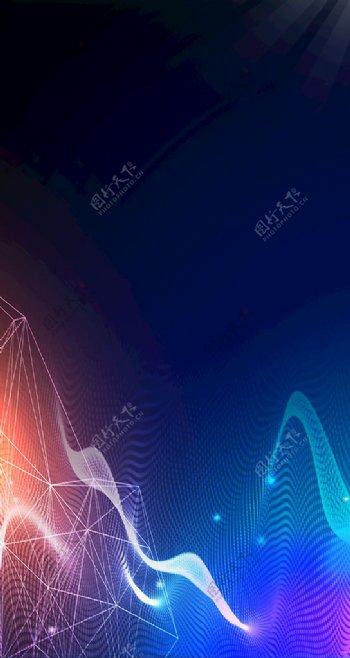纹理质感科技线条h5背景图