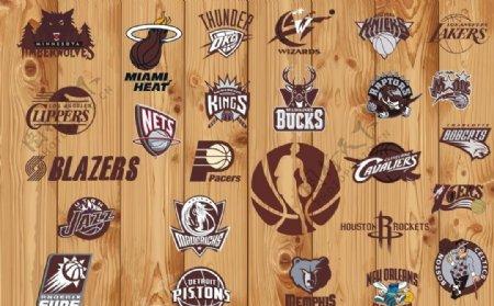 NBA篮球队标