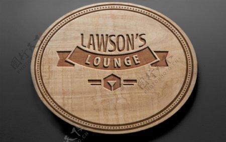 木质logo效果图