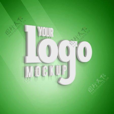 绿色背景logo效果图