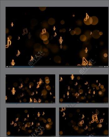 跳动的音符视频背景