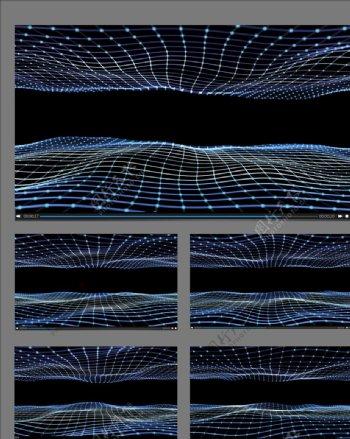 粒子波浪舞台背景视频素材