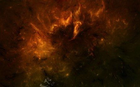 火爆炸火焰背景黑色晚