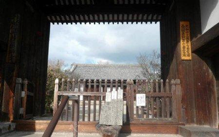 日式古建大门