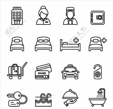 酒店住宿图标icon