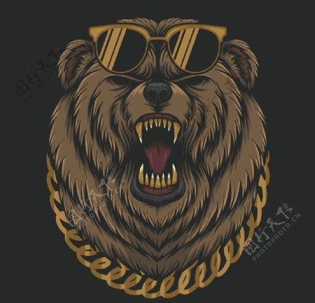 黑熊创意头像