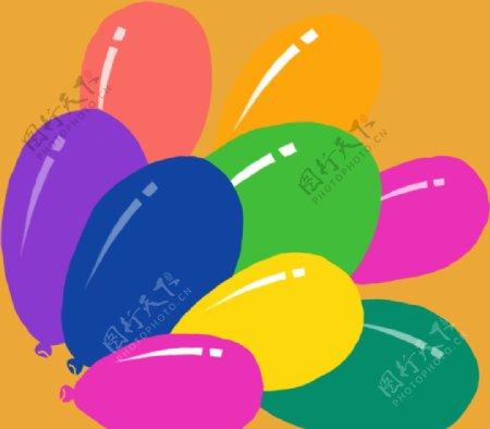 彩色卡通气球