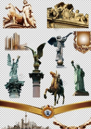 欧式建筑雕像