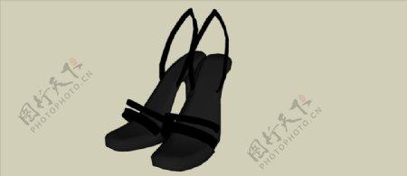 高跟凉鞋模型