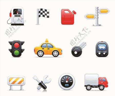 矢量汽车交通元素