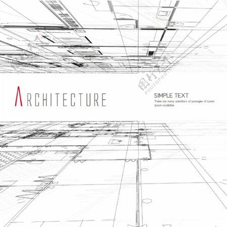 建筑线稿背景设计