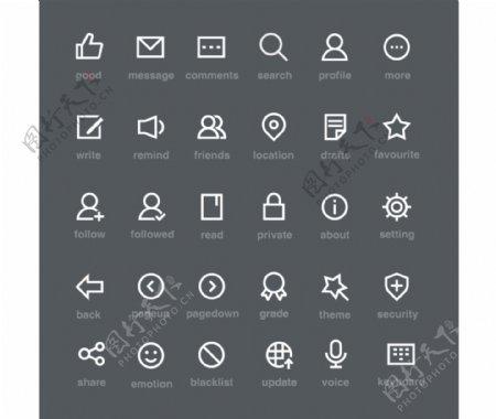 icon图标按钮手机icon符