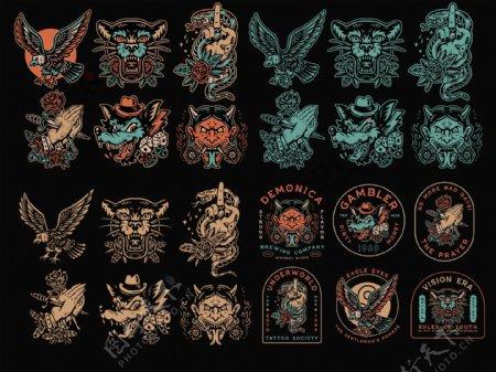 恐怖魔鬼纹身图案