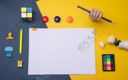 创意文具平铺桌面