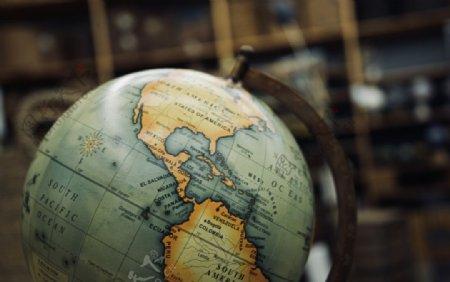 地球仪地理教学展示