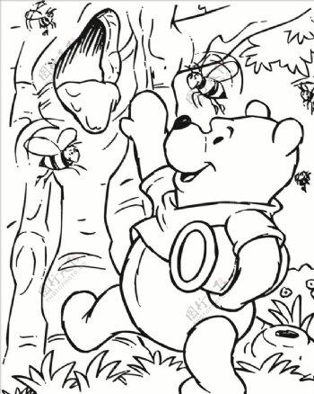小熊维尼掏蜂蜜