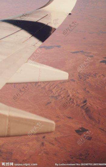 飞机俯瞰大地