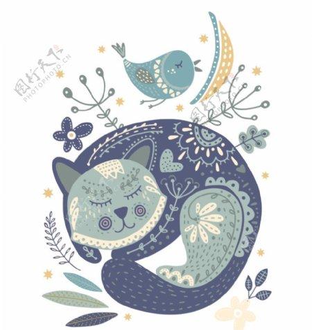可爱睡觉小猫海报
