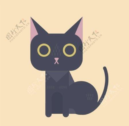 可爱矢量猫咪插画绘制