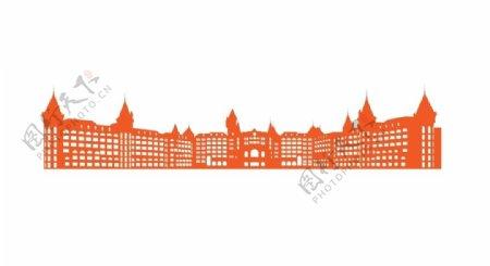 欧式建筑剪影