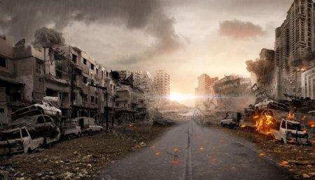 战争合成海报