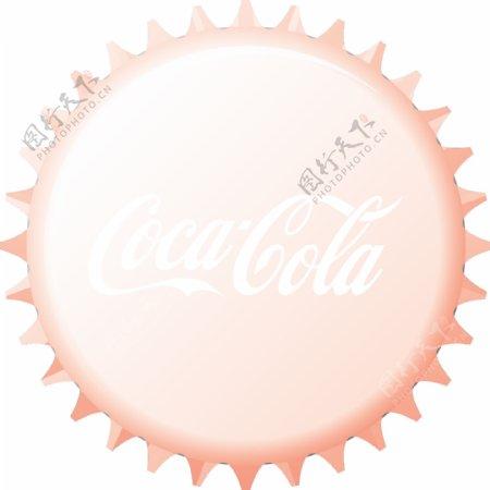 可口可乐瓶盖矢量图