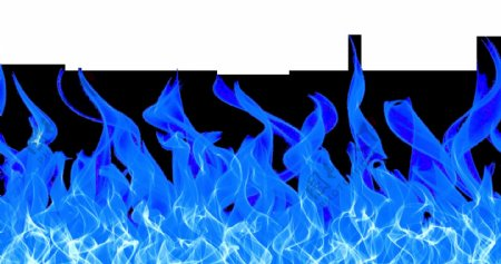 蓝色火焰燃烧合成海报素材