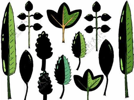 矢量卡通植物