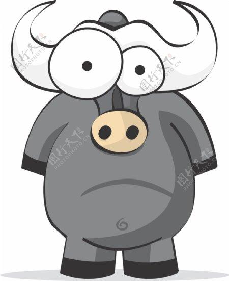 大水牛搞笑搞怪动物卡通大眼睛8