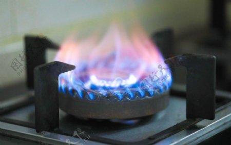 液化气火焰燃烧摄影