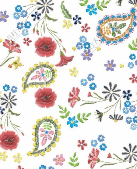手绘绣花图案