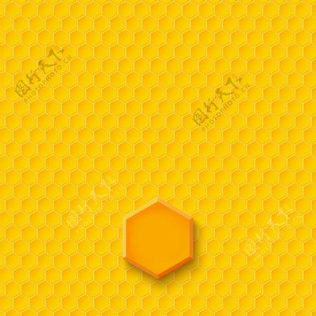 蜂蜜蜂巢黄色背景素材