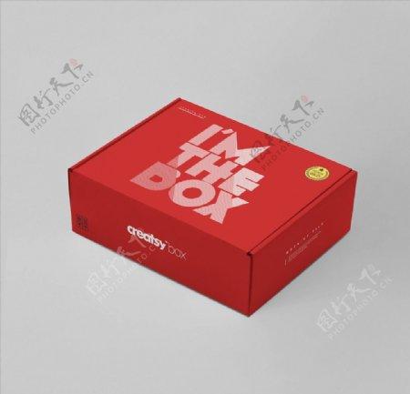 飞机盒包装样机图片