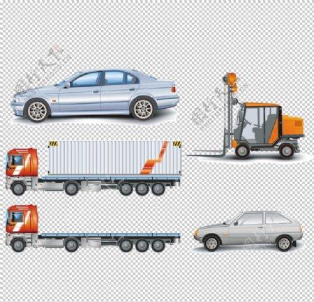 汽车叉车货车图形图标标识素材