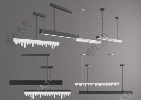 长形灯灯管吊灯图片