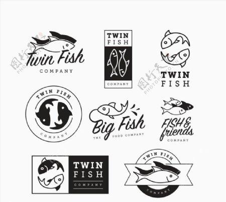 鱼类商务标志图片