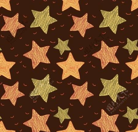 手工绘制图案星星图片