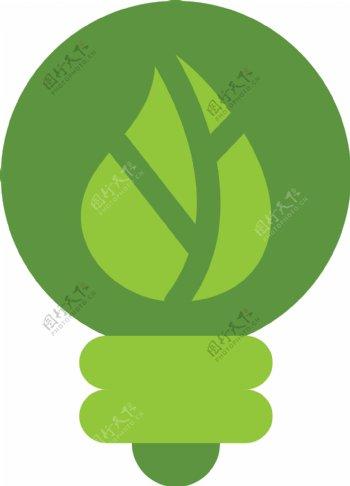 太阳能绿色图标图片