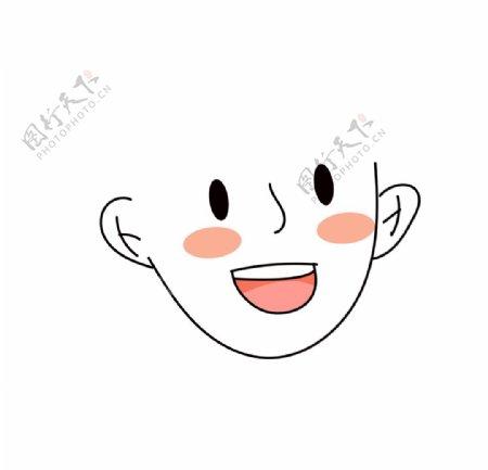 可换发型人脸模板插画素材图片