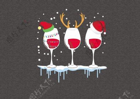 红酒杯圣诞红酒杯图片
