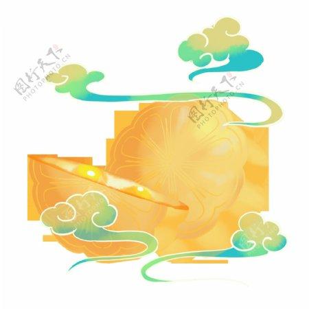 中秋月饼复古国风海报素材图片