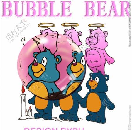 熊蜡烛裁片图片