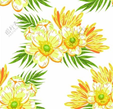 热带水彩花卉图片