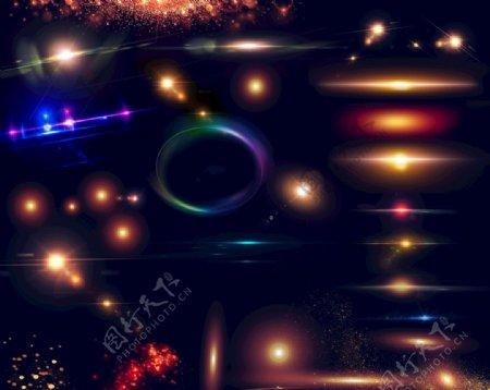 星光光效光线光晕光点光圈图片
