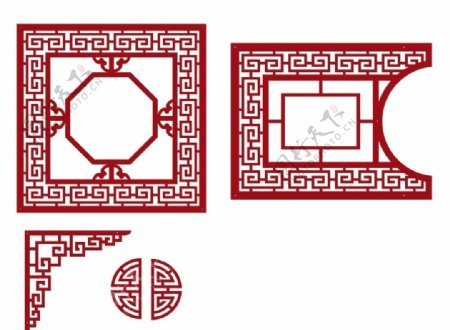 中式纹理边框元素图片