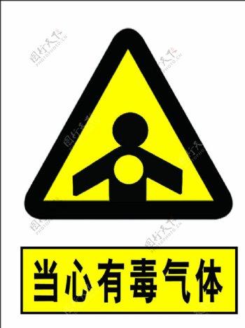 当心有毒气体图片