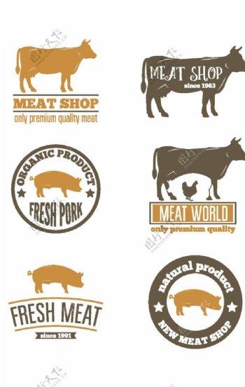 猪牛马标志图标图片