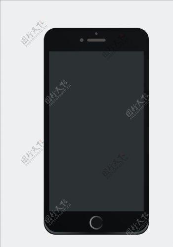 黑色苹果手机矢量元素图片